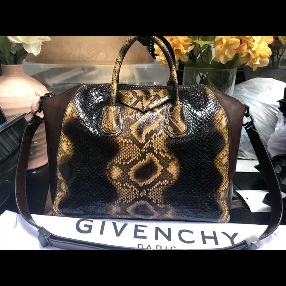 33d29c167e6 Givenchy Bags   Antigona Extra Large Python Bag   Poshmark